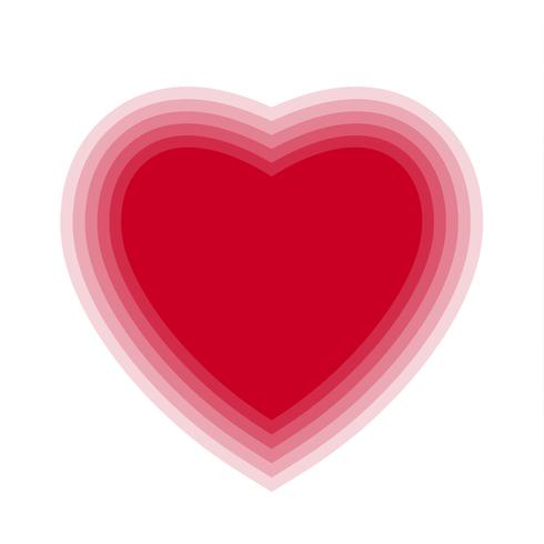 Red blend heart with transparent background. Vector illustration