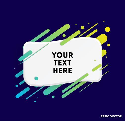 Fondo de vector con tarjeta de papel y formas abstractas de colores