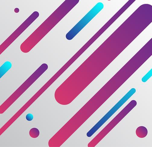 Vectorachtergrond met document kaart en abstracte kleurrijke vormen vector