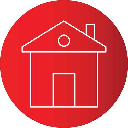 Home lijn pictogram