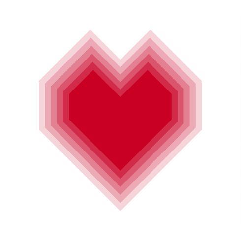 Rood mengselhart met transparante achtergrond. Vector illustratie