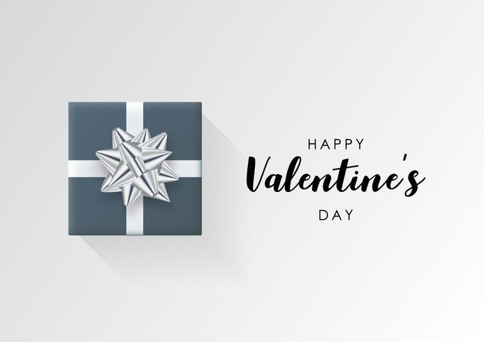 Fond de vecteur Saint Valentin. Coffret cadeau enveloppé coloré avec ruban