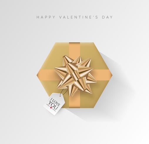 San Valentino sfondo vettoriale. Contenitore di regalo avvolto variopinto con il nastro. Illustrazione vettoriale festivo