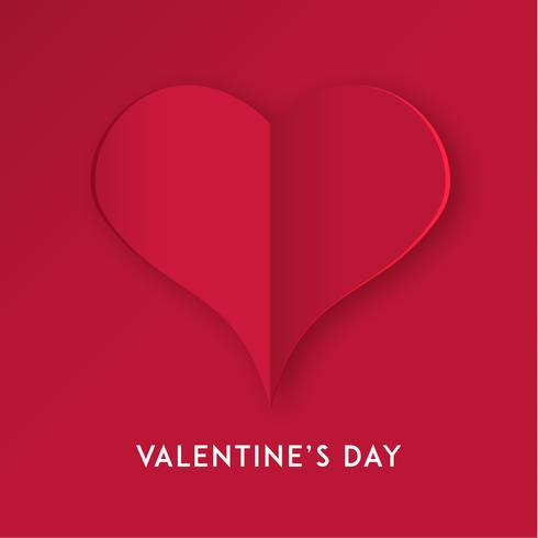 Cuore di carta tagliata per San Valentino o qualsiasi altra carta di invito Love. Vettore