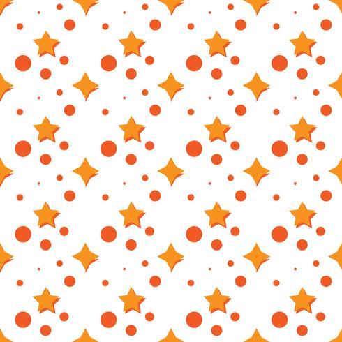Mönster med stjärna och cirkel. orange färg