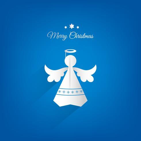Progettazione di carta di vettore della decorazione di angelo di natale.