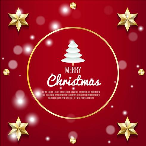 Fundo de Natal com decoração realista