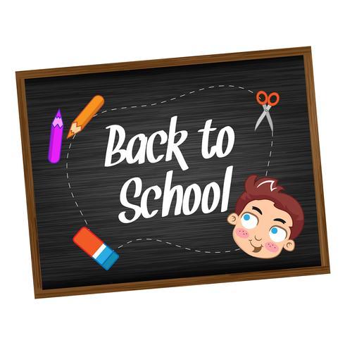 Ritorno a scuola con bambini felici