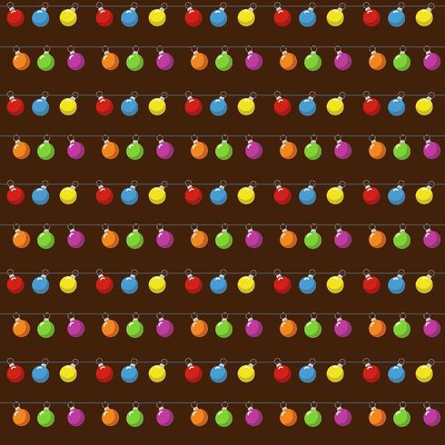 Modèle sans couture de Noël avec des boules