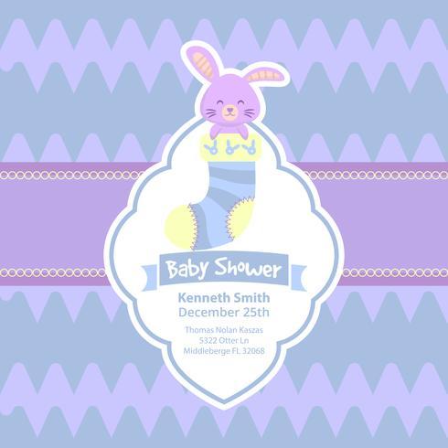 Leuke baby showerkaart met konijn