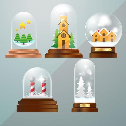 Globo di palle di neve di Natale