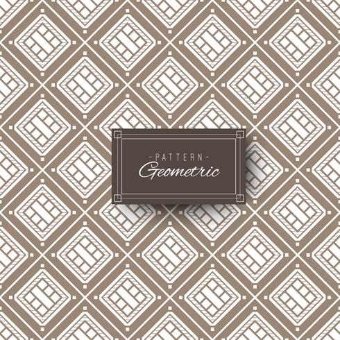 Vintage square geometric pattern