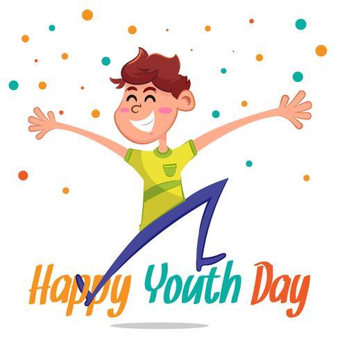 Ungdomsdag bakgrund med glad pojke