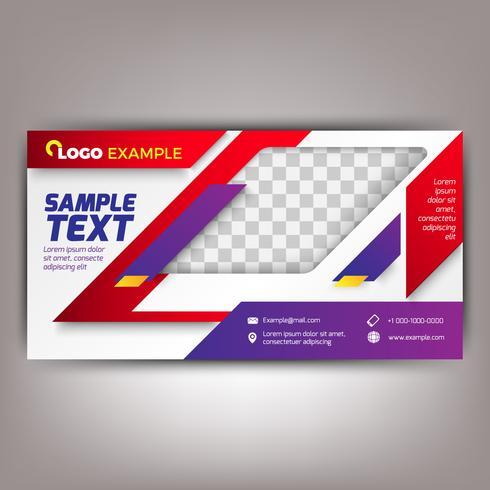 Rode en paarse sjabloon voor zakelijke folders. Abstracte achtergrond