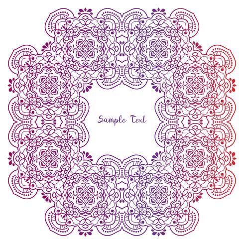 Cadre de style zentangle floral dessiné à la main. Bordure décorative de fleurs Doodle