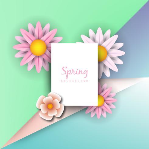 Concept d'illustration de printemps. Fond d'été avec camomille et fond vert délicat