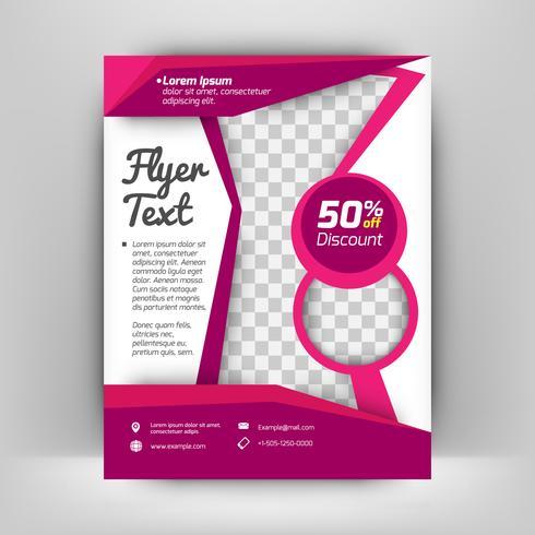 Sjabloon vector ontwerp voor Brochure, Jaarverslag, Magazine, Poster, bedrijfspresentatie, Portfolio, Flyer, lay-out moderne met zwarte en paarse kleur
