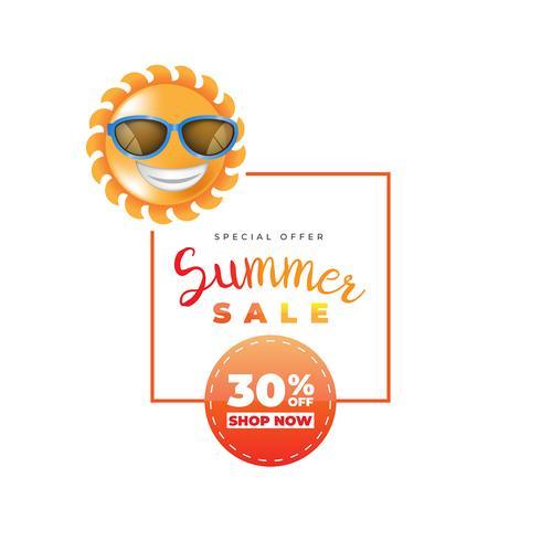 Werbeartikel für das Sommerschlussverkauf-Label