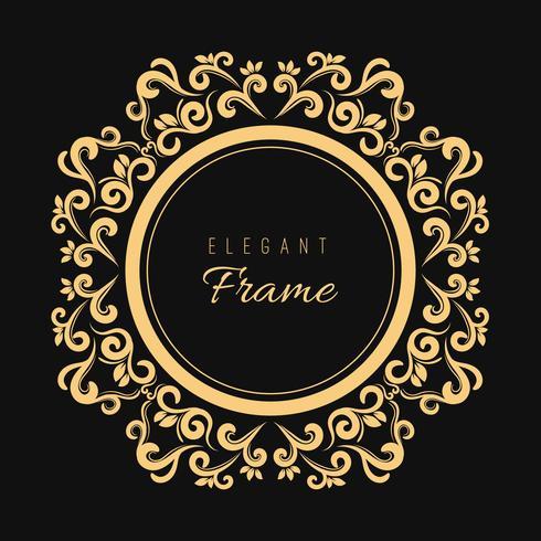Dekorativer stilvoller Hintergrund mit einem Weinleserahmen