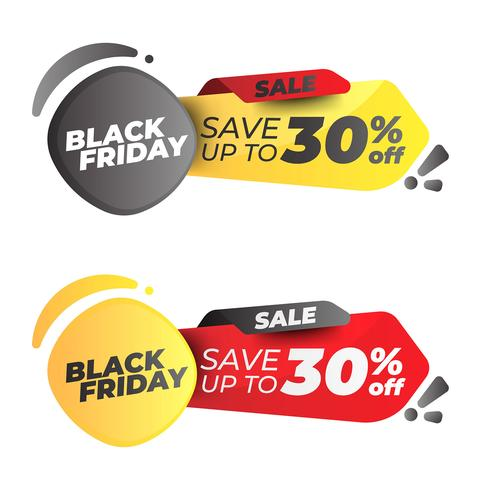 Black Friday-bannerset