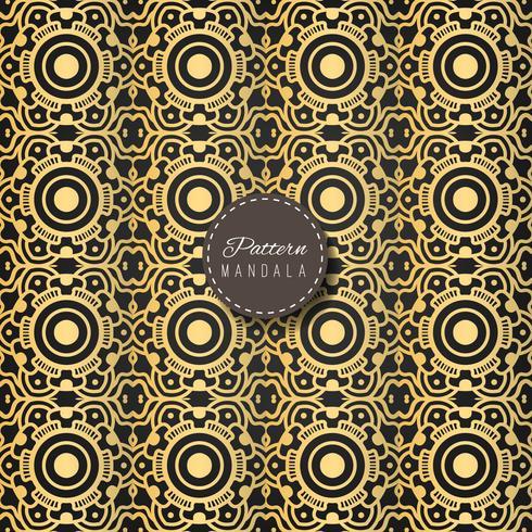 Gouden mandalapatroon