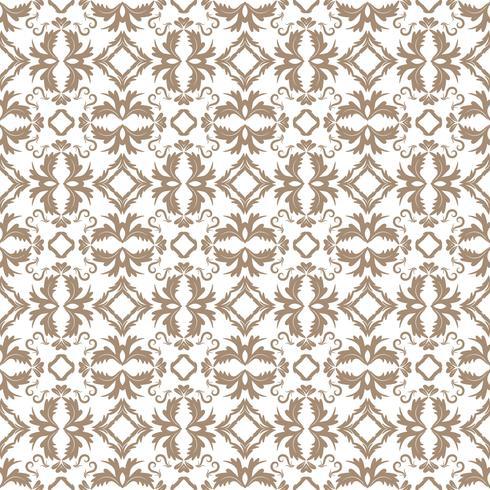 Estampa floral. Papel de parede barroco, damasco. Vetor sem costura de fundo. Ornamento cinza claro e branco