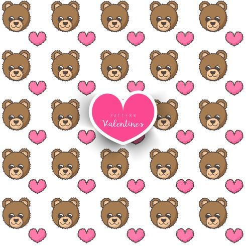 Naadloos patroon met beer