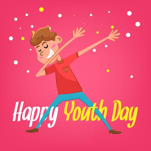 Youth day background with happy boy
