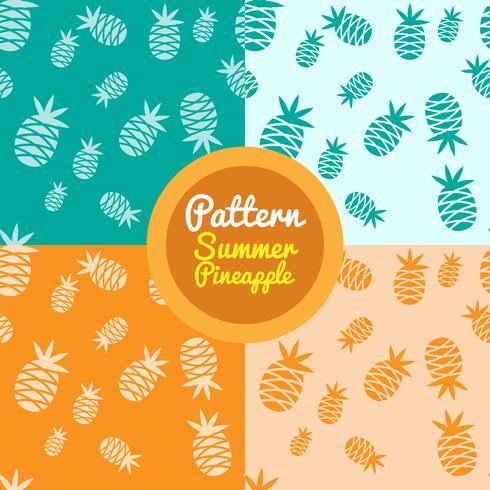 Kleurrijke ananaspatronen