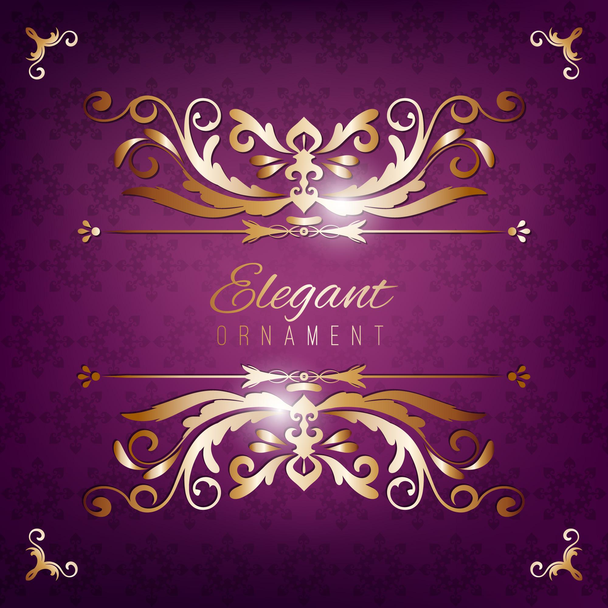 vintage invitation card purple luxury background with
