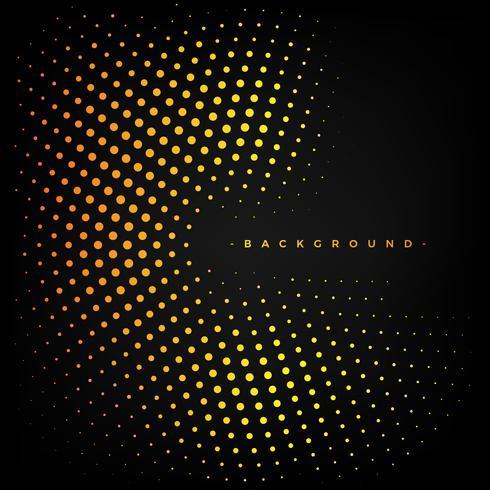 Abstracte gele en zwarte achtergrond met stippen