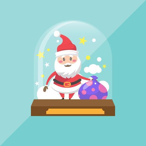 Concetto creativo del globo della palla di neve piana