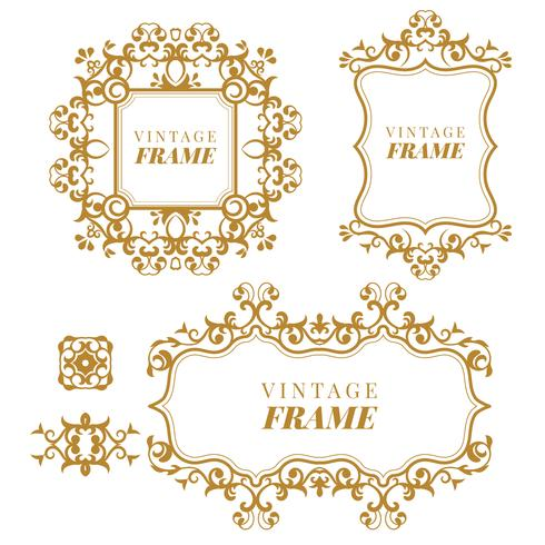 Vintage vector Set. Bloemenelementen voor het ontwerpen van monogrammen, uitnodigingen, kaders, menu's en labels