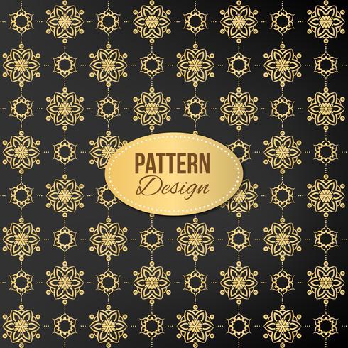 Motif doré avec mandala et design de luxe