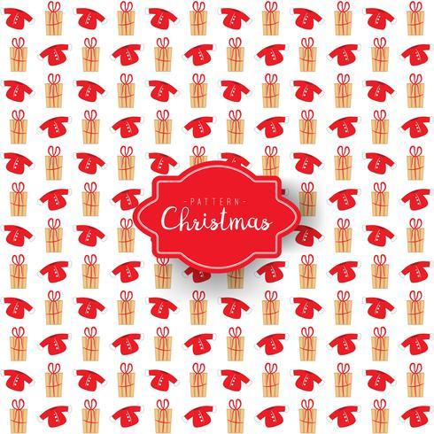 Kerst patroon van geschenkdozen en sweatshirt