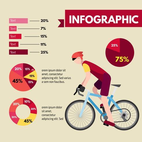 Fietser info grafische afbeelding