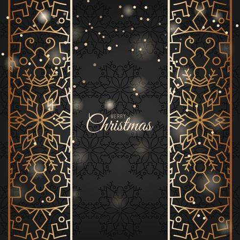 Elegant Christmas Background with shining golden ornament