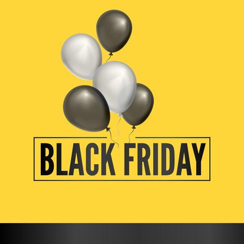 Fondo de globo de viernes negro