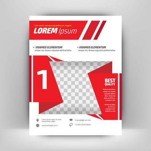 Rode driehoek Vector Brochure jaarverslag Leaflet Flyer sjabloonontwerp, boekomslag lay-outontwerp, abstracte zakelijke presentatiesjabloon