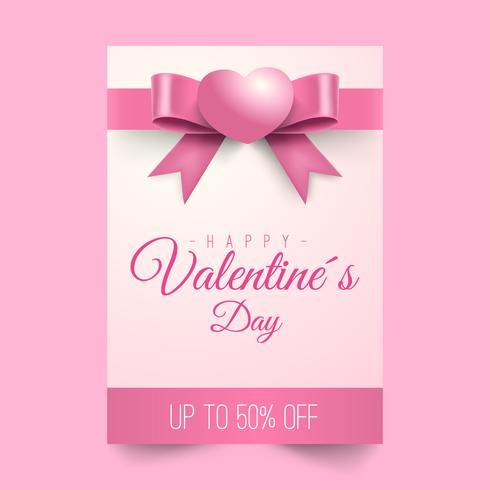 Offerta di vendita di San Valentino, modello di banner