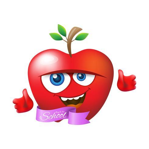 Terug naar school appel illustratie