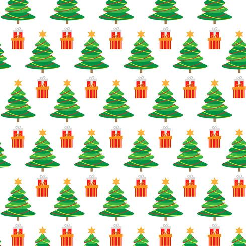 Modèle sans couture de Noël avec arbre