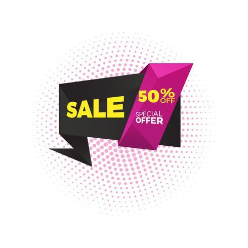 Verkoop en speciale aanbieding. 50% korting. Vector illustratie