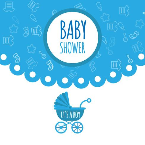 Chá de bebê para cartão de saudação e convite de celebração recém-nascido