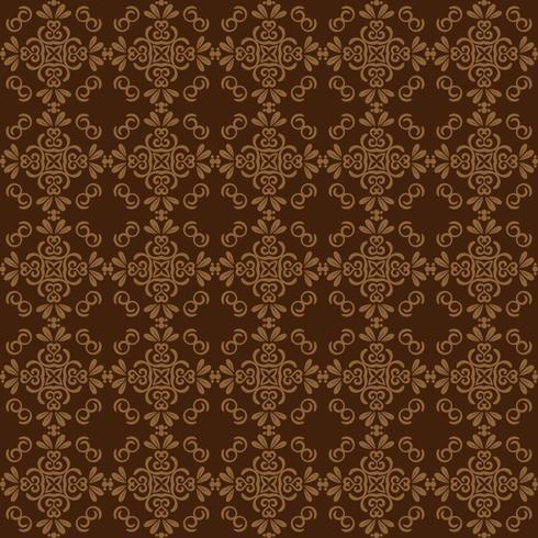 Seamless damask mönster bakgrund för tapet design. brun färg
