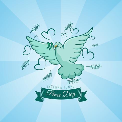Giornata internazionale della pace con stile handrawn