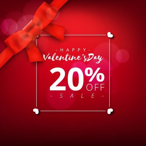 Valentinsdag super försäljning bakgrund. Röd abstrakt bakgrund med band