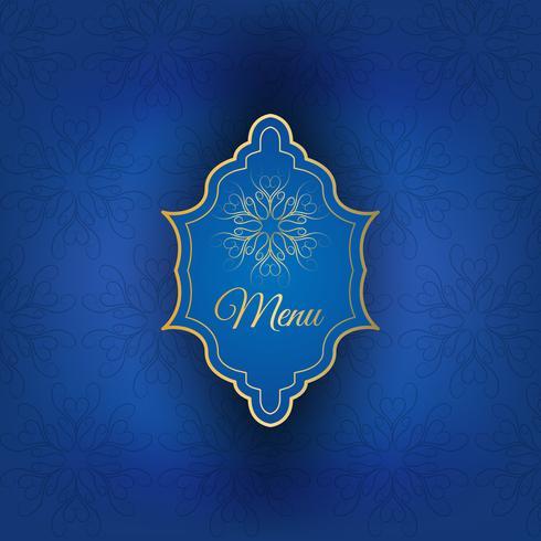Blauwe menudekking met gouden ornament