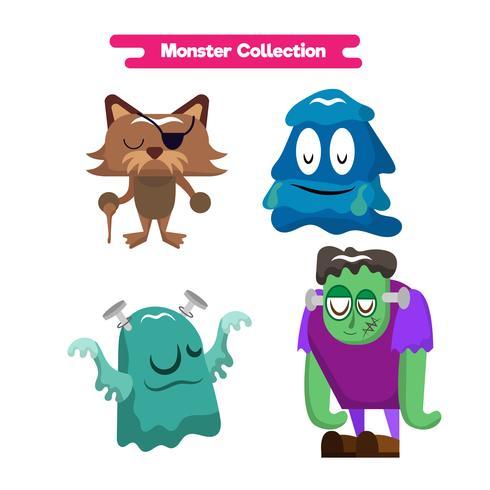 Schattige monsters cartoon