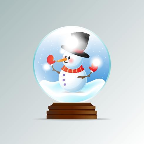 Realistische kerst sneeuw globe achtergrond